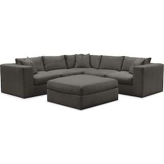 Collin 6 Pc. Sectional- Cumulus in Statley L Sterling