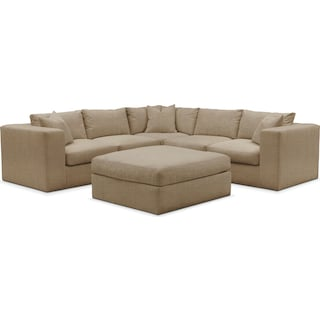 Collin 6 Pc. Sectional- Cumulus in Milford II Toast