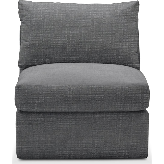 Living Room Furniture - Collin Armless Chair- Cumulus in Curious Charcoal