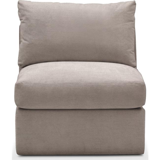 Living Room Furniture - Collin Armless Chair- Cumulus in Abington TW Fog
