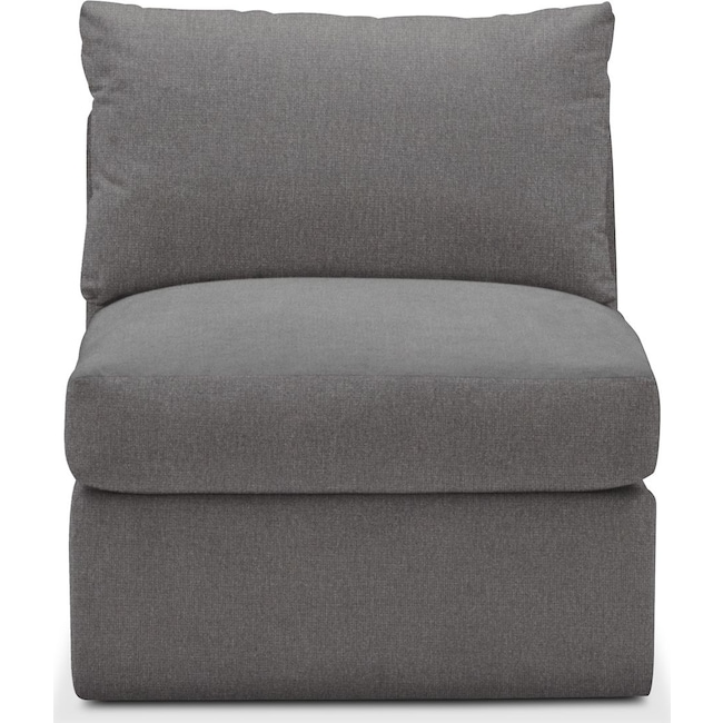 Living Room Furniture - Collin Armless Chair- Cumulus in Hugo Graphite