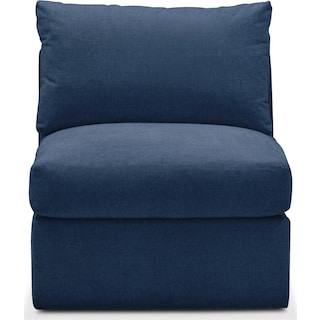 Collin Armless Chair- Cumulus in Hugo Indigo