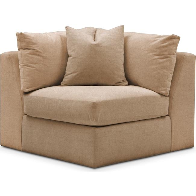 Living Room Furniture - Collin Corner Chair- Cumulus in Hugo Camel