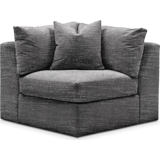 Collin Corner Chair- Cumulus in Millford II Charcoal