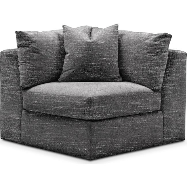 Living Room Furniture - Collin Corner Chair- Cumulus in Milford II Charcoal