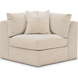 Collin Corner Chair- Cumulus in Anders Ivory