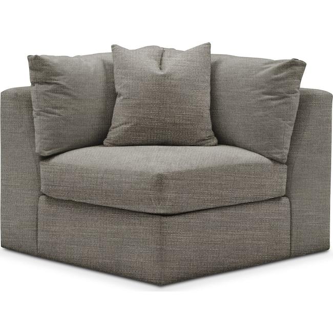 Living Room Furniture - Collin Corner Chair- Cumulus in Victory Smoke