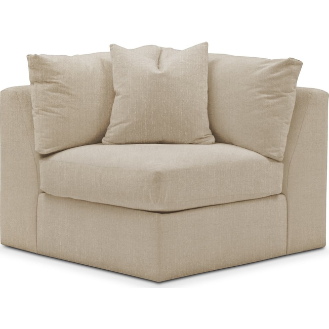 Living Room Furniture - Collin Corner Chair- Cumulus in Depalma Taupe