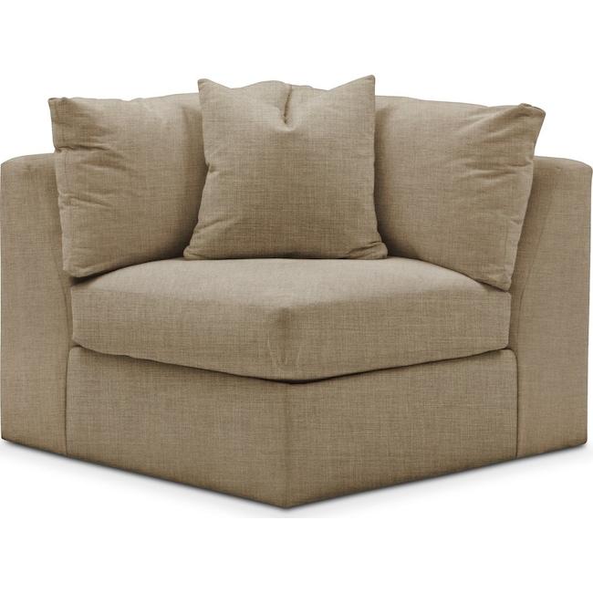 Living Room Furniture - Collin Corner Chair- Cumulus in Milford II Toast