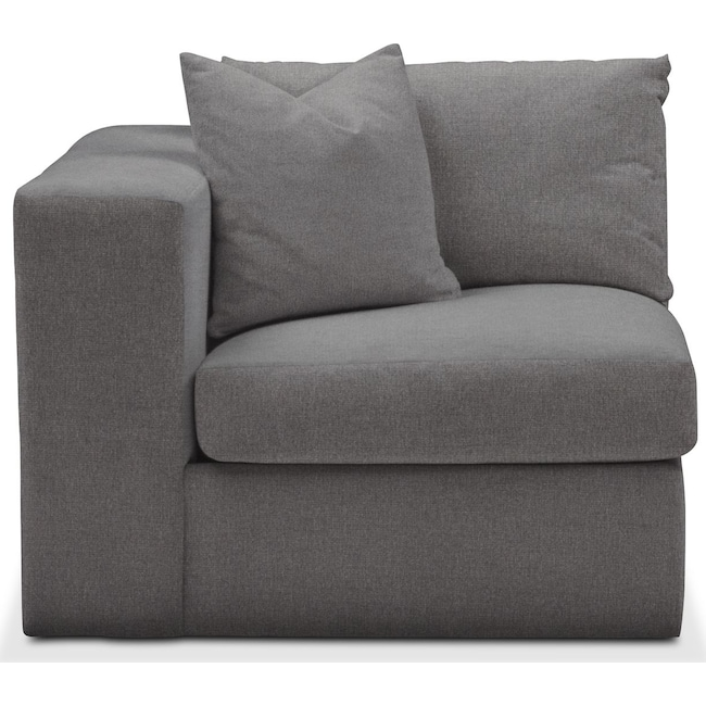 Living Room Furniture - Collin Left Arm Facing Chair- Cumulus in Hugo Graphite