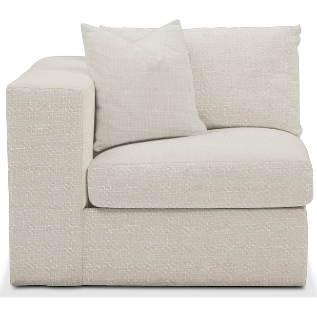 Living Room Furniture - Collin Left Arm Facing Chair- Cumulus in Victory Ivory