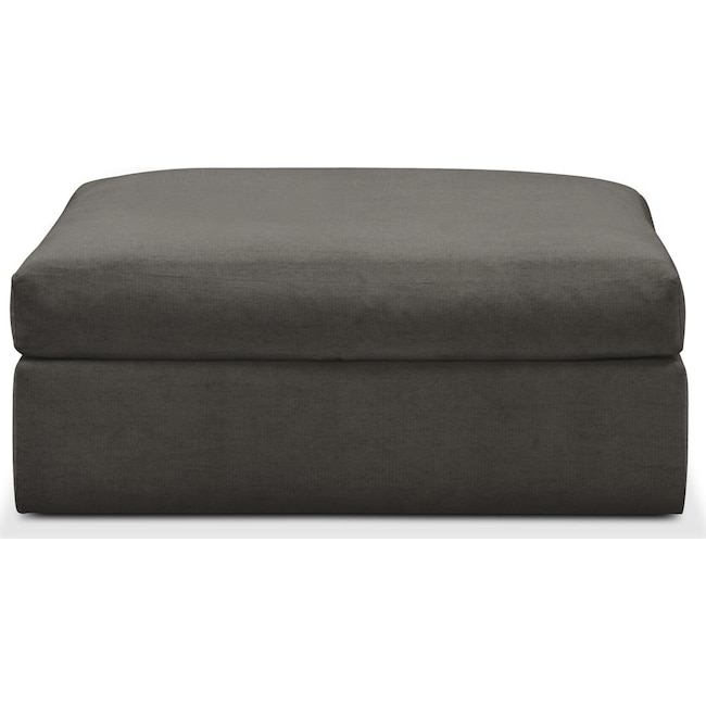 Living Room Furniture - Collin Ottoman- Cumulus in Statley L Sterling
