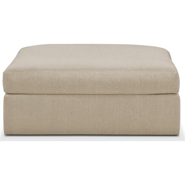 Living Room Furniture - Collin Ottoman- Cumulus in Depalma Taupe