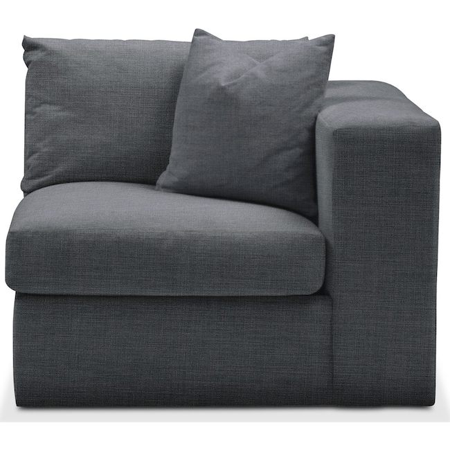 Living Room Furniture - Collin Right Arm Facing Chair- Cumulus in Depalma Charcoal