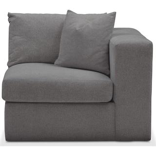Collin Right Arm Facing Chair- Cumulus in Hugo Graphite