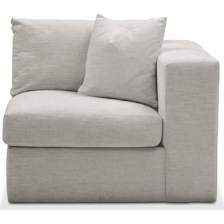Collin Right Arm Facing Chair- Cumulus in Dudley Gray