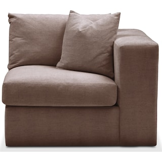 Collin Right Arm Facing Chair- Cumulus in Oakley III Java