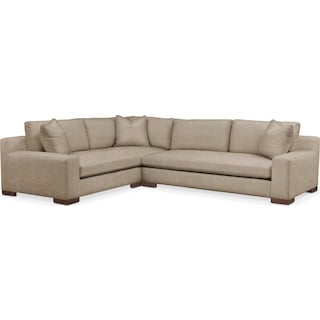 Ethan 2 Pc. Sectional with Left Arm Facing Sofa- Cumulus in Dudley Burlap
