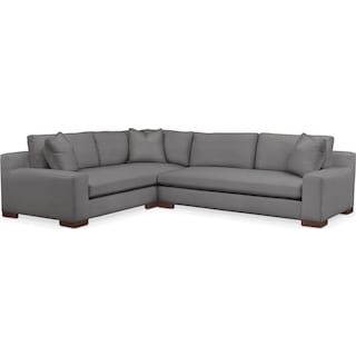 Ethan 2 Pc. Sectional with Left Arm Facing Sofa- Cumulus in Hugo Graphite