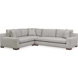 Ethan 2 Pc. Sectional with Left Arm Facing Sofa- Cumulus in Dudley Gray