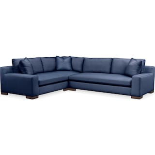 Ethan 2 Pc. Sectional with Left Arm Facing Sofa- Cumulus in Dudley Indigo