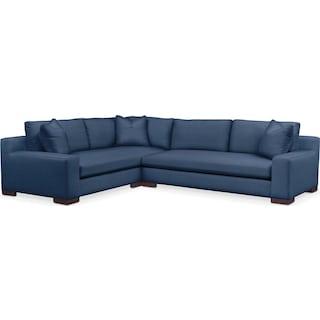 Ethan 2 Pc. Sectional with Left Arm Facing Sofa- Cumulus in Hugo Indigo