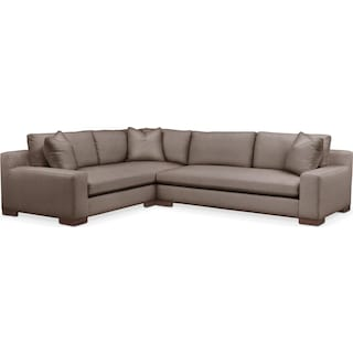 Ethan 2 Pc. Sectional with Left Arm Facing Sofa- Cumulus in Hugo Mocha
