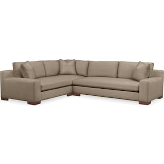 Ethan 2 Pc. Sectional with Left Arm Facing Sofa- Cumulus in Statley L Mondo
