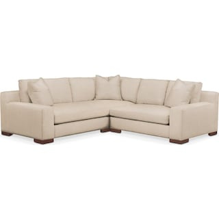 Ethan 2 Pc. Sectional with Right Arm Facing Loveseat- Cumulus in Dudley Buff