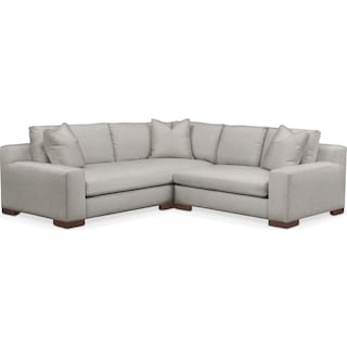 Ethan Cumulus 2-Piece Small Sectional with Right-Facing Loveseat - Dudley Gray