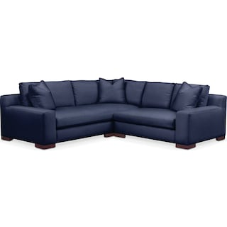 Ethan 2 Pc. Sectional with Right Arm Facing Loveseat- Cumulus in Oakley III Ink