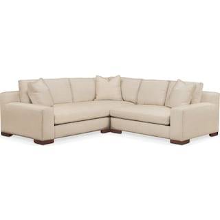 Ethan 2 Pc. Sectional with Right Arm Facing Loveseat- Cumulus in Victory Ivory