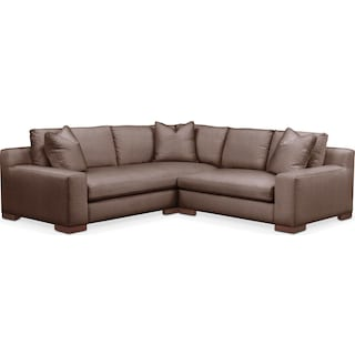 Ethan 2 Pc. Sectional with Right Arm Facing Loveseat- Cumulus in Oakley III Java
