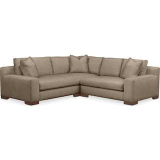 Ethan 2 Pc. Sectional with Right Arm Facing Loveseat- Cumulus in Statley L Mondo