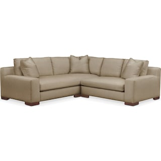 Ethan 2 Pc. Sectional with Right Arm Facing Loveseat- Cumulus in Millford II Toast