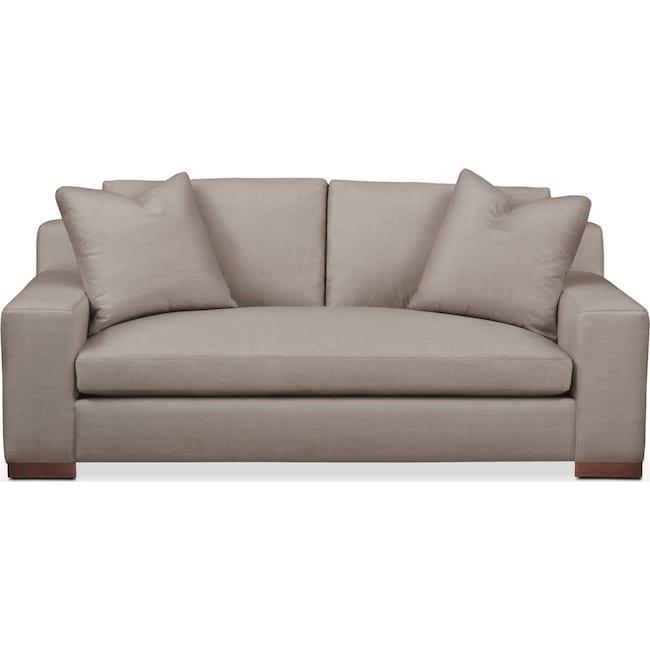 Living Room Furniture - Ethan Apartment Sofa- Cumulus in Abington TW Fog