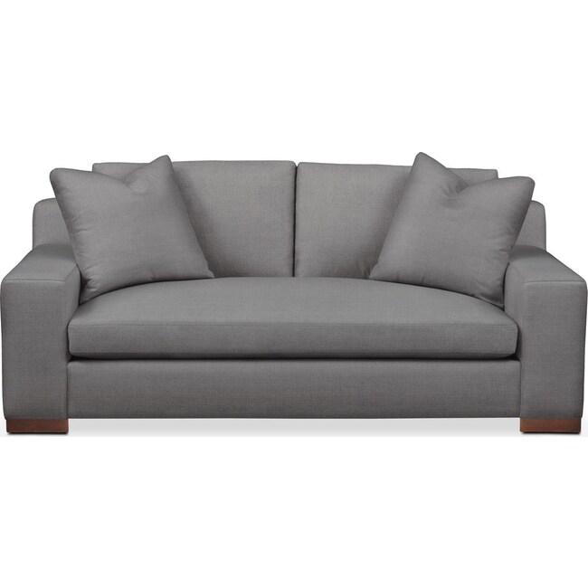 Living Room Furniture - Ethan Apartment Sofa- Cumulus in Hugo Graphite