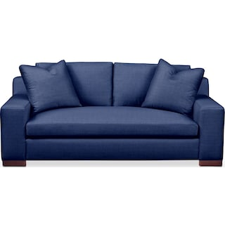 Ethan Apartment Sofa- Cumulus in Dudley Indigo