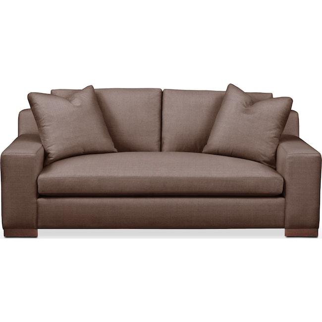 Living Room Furniture - Ethan Apartment Sofa- Cumulus in Oakley III Java