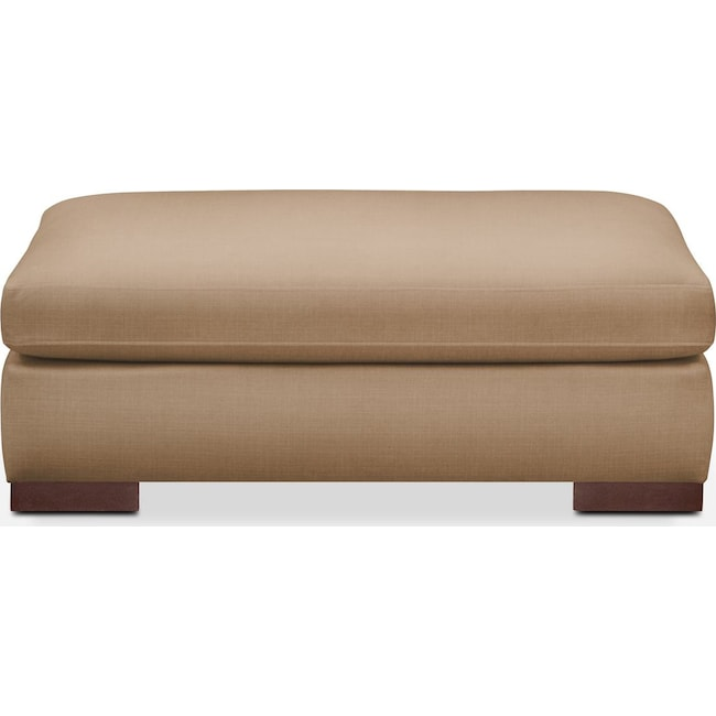 Living Room Furniture - Ethan Ottoman- Cumulus in Hugo Camel