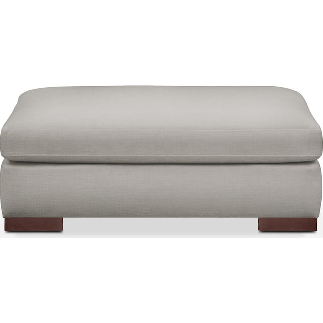 Living Room Furniture - Ethan Ottoman- Cumulus in Dudley Gray