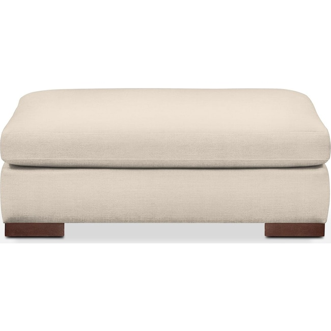 Living Room Furniture - Ethan Ottoman- Cumulus in Curious Pearl