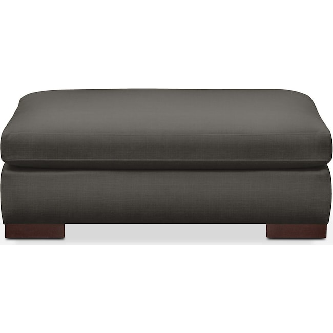 Living Room Furniture - Ethan Ottoman- Cumulus in Statley L Sterling