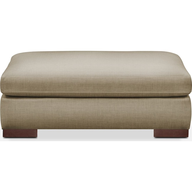 Living Room Furniture - Ethan Ottoman- Cumulus in Milford II Toast