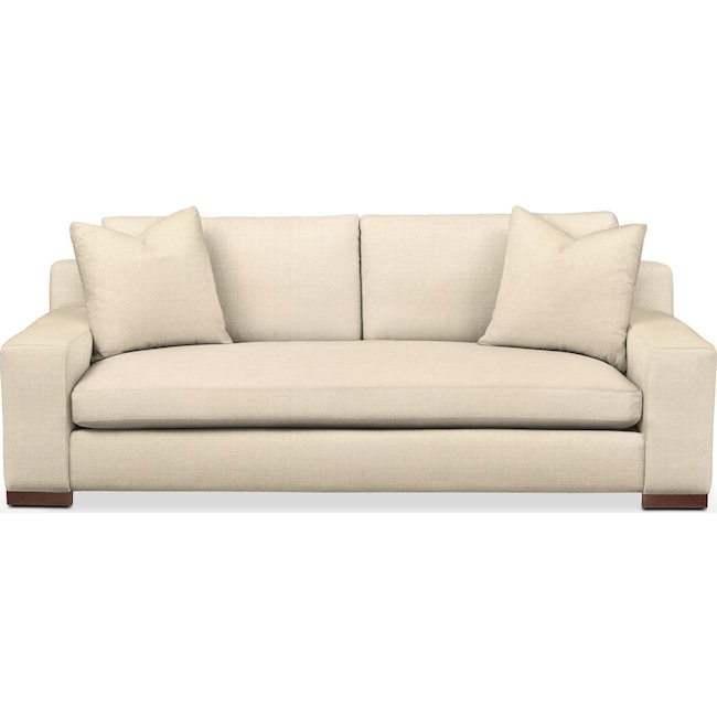 Living Room Furniture - Ethan Sofa- Cumulus in Anders Cloud