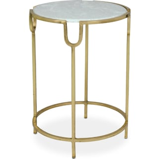 Doran Accent Table - Brass