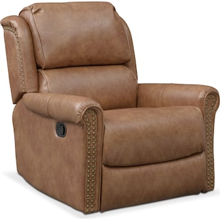 Courtland Manual Glider Recliner - Saddle