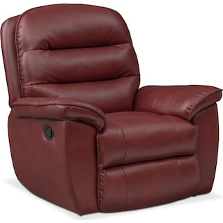 Regis Glider Recliner - Red