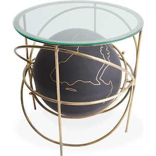 Globe Accent Table - Brass