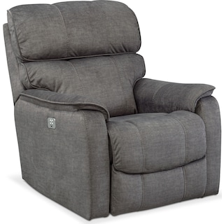 Mondo Dual-Power Recliner - Gray